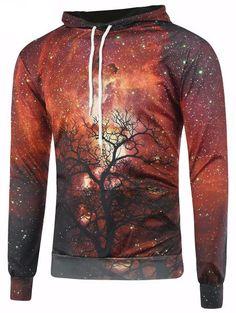 Yayu Mens Loose Fit Stylish Patterns Hoodies Running Pullover Sweatshirts