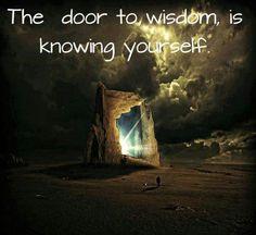 """The door to wisdom is knowing yourself."""