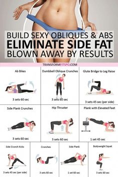 Best Exercise to Eliminate Side Fat and Build Sexy Obliques & Abs! Youll be Blown Away b - Fitness Plans - Ideas of Fitness Plans - Exercise Abs workout Strength training workout Fitness Workouts, Side Workouts, Side Fat Workout, Gewichtsverlust Motivation, Fitness Routines, Strength Training Workouts, Training Plan, Tummy Workout, Hard Ab Workouts