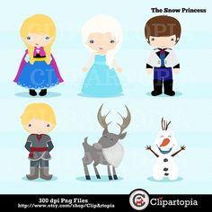 Princesa de las nieves digital clipart / princesa por ClipArtopia