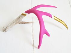 How amazing?!? painted antlers