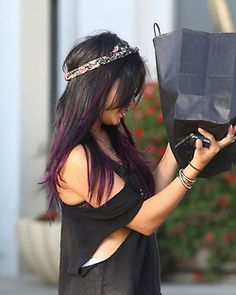 Dark purple ombre hair. Subtle