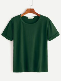 Shop Rolled Cuff Tee online. SheIn offers Rolled Cuff Tee & more to fit your fashionable needs.