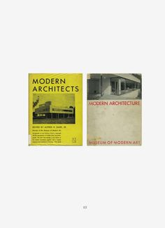 Modern architects / Modern architecture