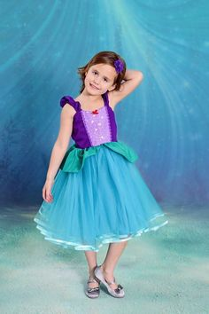 5c59aa962 ARIEL dress Ariel costume Ariel princess dress for toddlers and girls  vacation outfit Ariel birthd