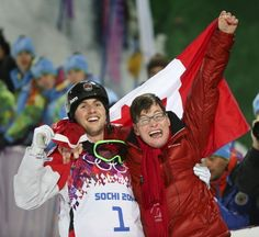 Canada's Alex Bilodeau Dedicates Olympic Gold To Brother With Cerebral Palsy. Alex credits his brother, Frederic, as his inspiration. Freestyle Skiing, I Am Canadian, Olympic Gold Medals, O Canada, Winter Games, Cerebral Palsy, Team Usa, Winter Olympics, Olympians