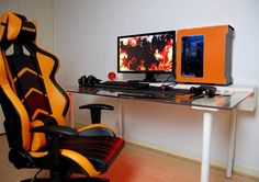 Build A PC 670473463263226116 - Cool Interior Design Ideas for Gamers – The Urban Interior Source by Simple Computer Desk, Computer Desk Setup, Pc Desk, Gaming Setup, Computer Rooms, Computer Workstation, Gaming Computer, Office Setup, Pc Setup