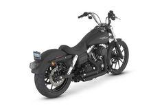 Harley Davidson Street Bob Black. What's I want my bike to look like but lowered rear.