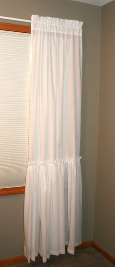 Another beautiful curtain from ShadesUp and Co.  I'm so glad I have more than one set of windows! https://www.etsy.com/listing/109995543/farmhouse-curtains-shabby-chic-with-long