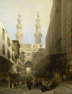 David Roberts (1796-1864), A View in Cairo. Signed and dated 1840. Oil on canvas , 91.3 x 69.9 cm. RCIN 403602. Royal Collection Trust/© Her Majesty Queen Elizabeth II 2015