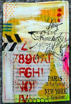 Mixed-Media Postcards by Nicole Maki | Flickr - Photo Sharing!