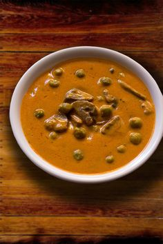 Vegetable Mushroom Makhani Recipe. Delicious creamy vegetable eaten with naan or jeera rice
