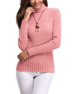 Women s Long Sleeve Solid Lightweight Soft Knit Mock Turtleneck Sweater  Tops Pullover 0dc9ce431