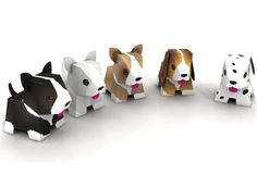 Adorable Printable Puppies | Get free printable puppies with five different designs <3