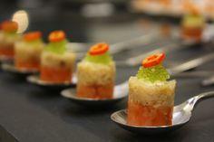 Chilli & crab salmon canapé