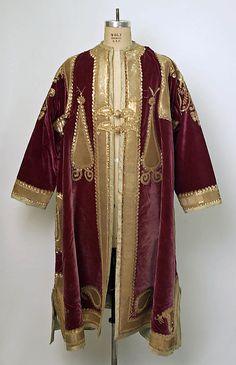 Coat (Choga)  Date: late 19th century Culture: Indian Medium: silk, metallic