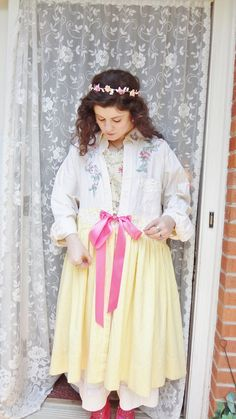 Romantic Clothing Yellow Shabby Chic Duster by BerthaLouiseDesigns, $129.95