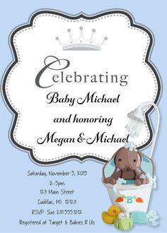 Showering Baby Boy Shower Invitation  Baby by FabPartyPrints