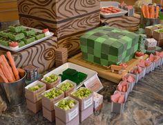 Sunny by Design: Minecraft inspired Birthday party Dessert Table Birthday, Birthday Party Desserts, Boy Birthday Parties, Kid Parties, 7th Birthday, Zombie Birthday, Birthday Celebrations, Birthday Ideas, Happy Birthday