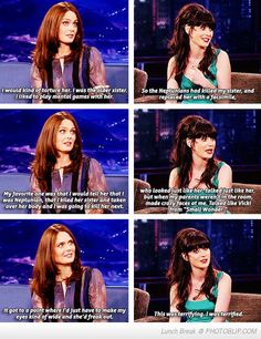 Deschanel sisters: it's like my alternate universe where I have an older sister & I'm an adorable brunette.