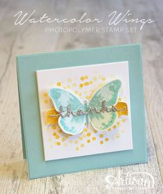 By Teneale Williams | Stampin Up! Artisan Blog Hop | Watercolor Wings