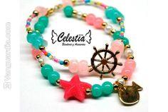 Diana y Natalia son las creadoras de esta idea, que ya lleva dos años comercializando collares y pulseras elaboradas en perla, oro golfi, piedras naturales y de vidrio, mostacilla, muranos y cadenas en aluminio y niquel.