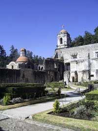 17th c convent at the Desierto de los Leones National Park - Mexico City's west side, within the area of Cuajimalpa.