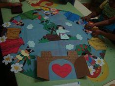 Recursos para el Ministerio de los Niños: Instalaciones - alfombras para contar historias