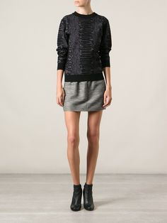 Lanvin Snakeskin Effect Sweater - Vitkac - Farfetch.com