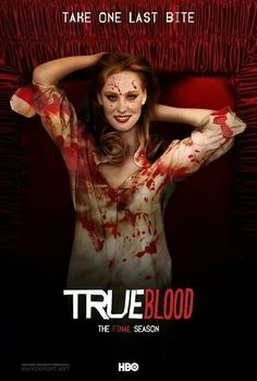 Fan-made True Blood poster for the final season, featuring Jessica.