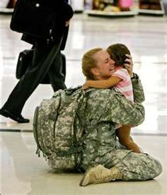 This makes me tear up every time I see it -  our military makes so many sacrifices.  God bless them all!