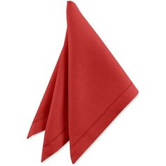 Waterford Addison Napkin ($9.99) ❤ liked on Polyvore featuring home, kitchen & dining, table linens, red, waterford table linens, red napkins, hemstitch napkins and waterford