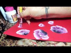 One Stroke, Paint a White daisies, Como dibujar la manzanilla , irishkalia - YouTube
