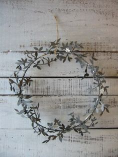 metal wreath!   Cute