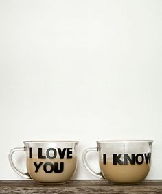 'I Love You' & 'I Know' Decal Set