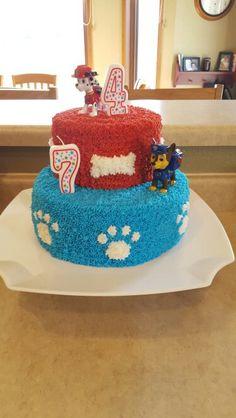 Ideas For Birthday Cake Boys Diy Paw Patrol Pj Masks Birthday Cake, Paw Patrol Birthday Cake, Diy Birthday Cake, Birthday Fun, Birthday Ideas, Rubble Paw Patrol Cake, Cat Birthday Wishes, Diy Cake, Cakes For Boys