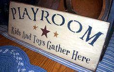 Playroom Sign! :)