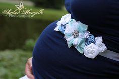 Maternity Sash - Vintage Inspired Baby Boy Maternity Sash, Bridal Sash, Belt, Headband, Wedding - Photo Prop. $36.99, via Etsy.