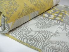 Love yellow and gray!  Too bad it's a baby blanket, or I'd buy it for my room.