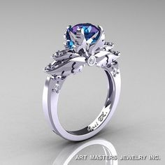 I found 'Classic Angel 14K White Gold 1.0 Ct Chrysoberyl Alexandrite Diamond Solitaire Engagement Ring R482-14KWGDAL' on Wish, check it out!