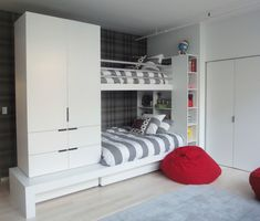 Grey white and red boys room.....want to find these comforters.