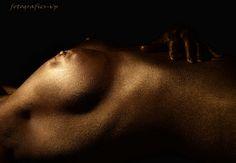 golden silver brons bodypaint fb - golden lady