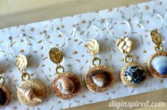 DIY Recycled Wine Cork Wine Charms as party favors