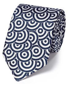 Buy luxury silk ties from Charles Tyrwhitt of Jermyn Street, London. All our ties, whether for work or a formal occasion, have a sense of luxury. White Silk, Blue And White, Luxury Ties, Lapel Flower, Charles Tyrwhitt, Designer Ties, Tie Knots, Business Outfits, Floral Tie