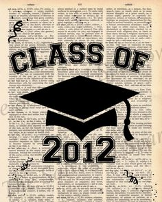 Class of 2012 Vintage Print.