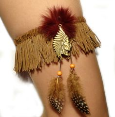 Matoaka - Pocahontas inspired indian style garter. $23.00, via Etsy. This is Mine!