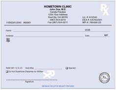 prescription pad samples - : Yahoo Image Search Results
