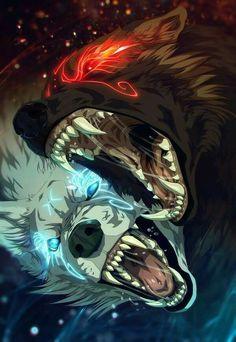 Máni y Hati: la luna y el Lobo que la perseguia. Mitologia nórdica .