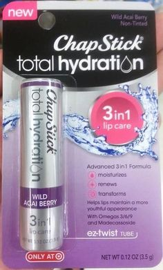 Spotted at Target: New Products by eos, Softlips, and ChapStick -  NEW ChapStick Total Hydration 3-in-1 Lip Care  in Wild Acai Berry