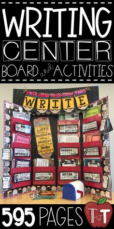 Writing Center Board and Activities for your students to work on writing!